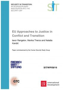 EU Approaches to Justice cover